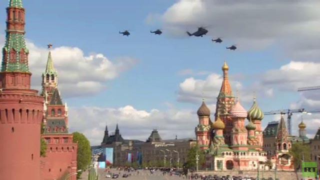 بالفيديو.. طائرات عسكرية في سماء موسكو بإطار بروفة استعراض عيد النصر