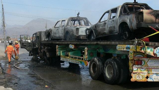 مقتل 2 من جنود الناتو في هجوم على قافلة إمدادات متوجهة من باكستان إلى أفغانستان
