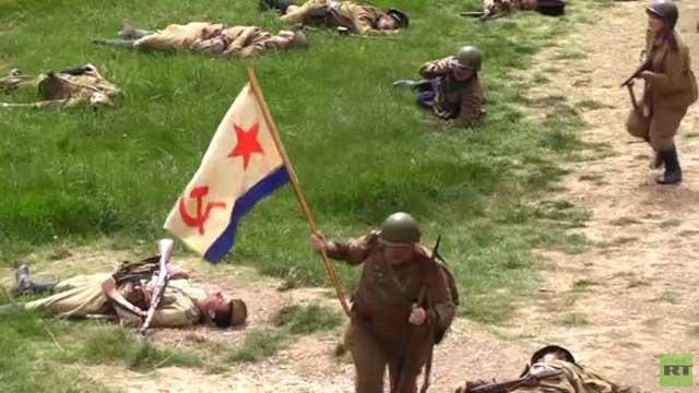 بالفيديو..تمثيل معركة جبل سابون الشهيرة في سيفاستوبل