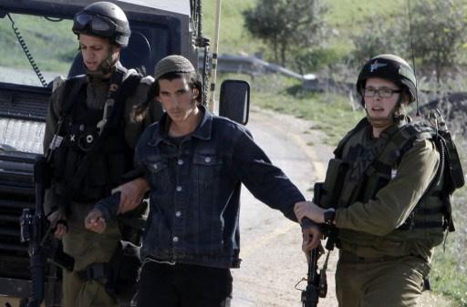 اعتقال 7 أحداث إسرائيليين لقيامهم بأعمال عنصرية ضد الفلسطينيين