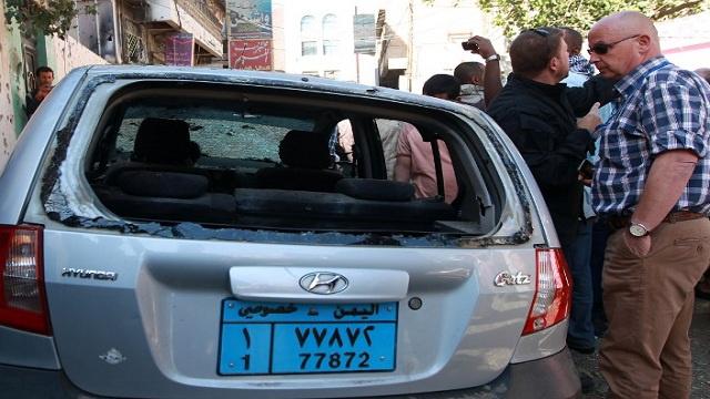 مقتل مواطن فرنسي في هجوم مسلح على حي دبلوماسي بصنعاء (فيديو)