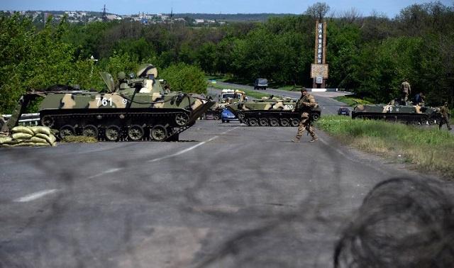 الجيش الأوكراني يهاجم مجددا مدينة سلافيانسك شرق أوكرانيا