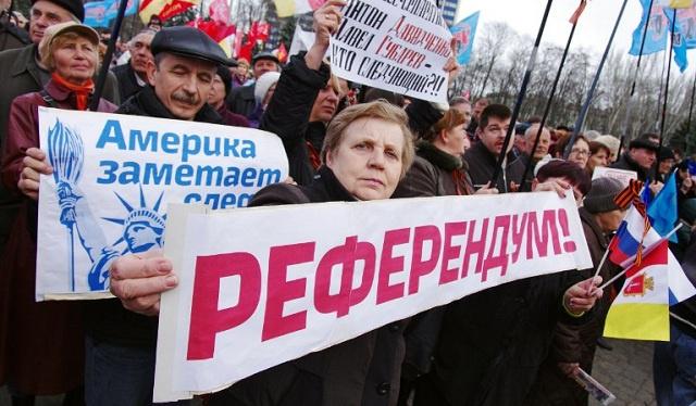 إتمام الاستعدادات لإجراء الاستفتاء في المراكز الانتخابية بدونيتسك شرق أوكرانيا