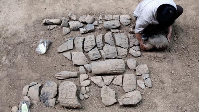 الصين...العثور على مقبرة بناة الجيش الطيني
