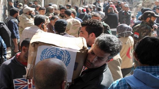 الأمم المتحدة تتمكن من إدخال المساعدات للنازحين في حلب السورية