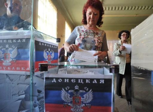 استفتاء دونيتسك داخل الحدود الإدارية للمقاطعة فقط