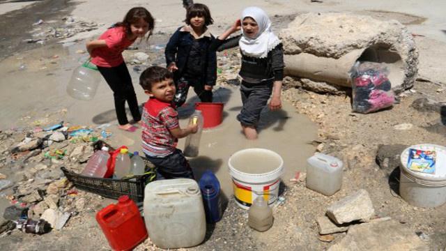 كارثة إنسانية على أبواب حلب بسبب قطع الماء