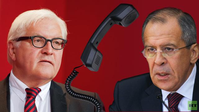 لافروف وشتاينماير يعربان عن قلقهما من مواصلة المواجهات في شرق أوكرانيا