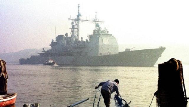 طراد أمريكي حامل للصواريخ يدخل مياه البحر الأسود يوم الجمعة