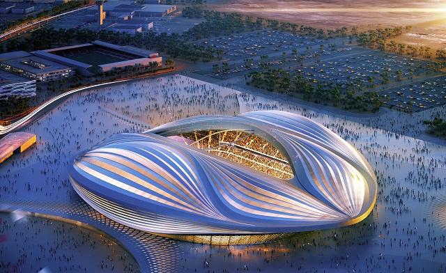قطر تضع اللبنة الأولى في أول ملاعب مونديال 2022