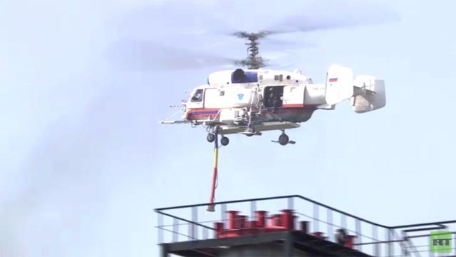 بالفيديو.. مهارات قوات الطوارئ الروسية في مواجهة الكوارث