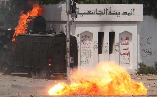 مقتل طالب في احتجاجات لأنصار الإخوان بجامعة القاهرة