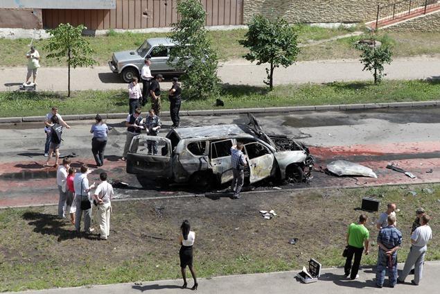 إصابة شخص واحد بحروق في انفجار سيارة في سيمفيروبل بالقرم