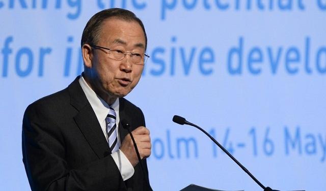 بان كي مون يدعو مجلس الأمن لاتخاذ إجراءات عاجلة لضمان وصول المساعدات الإنسانية إلى سورية