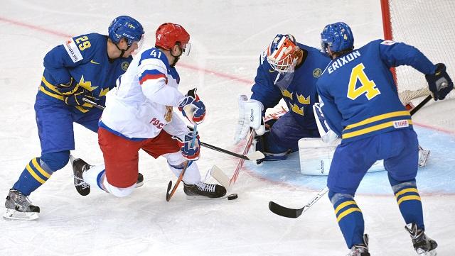 روسيا تجرد السويد من لقب بطلة العالم لهوكي الجليد