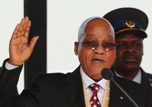 زوما يؤدي اليمين الدستورية رئيسا لجمهورية جنوب افريقيا
