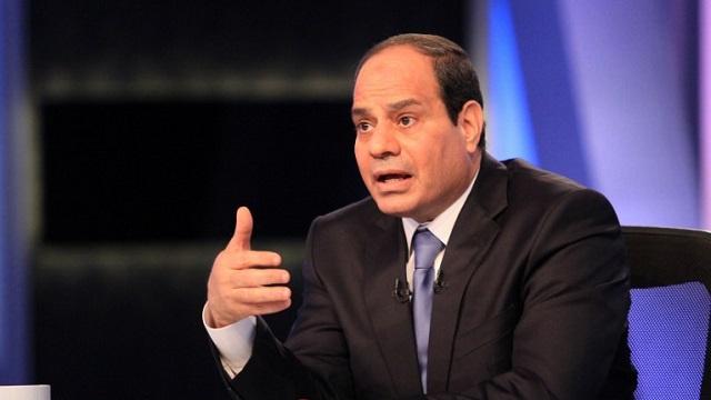 السيسي: لن نسمح بأي تهديد أمني ليبي لمصر