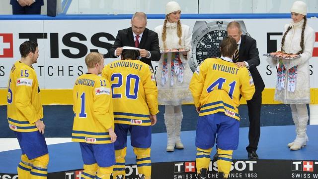 السويد تستبدل الميداليات الذهبية بالبرونزية في بطولة العالم للهوكي