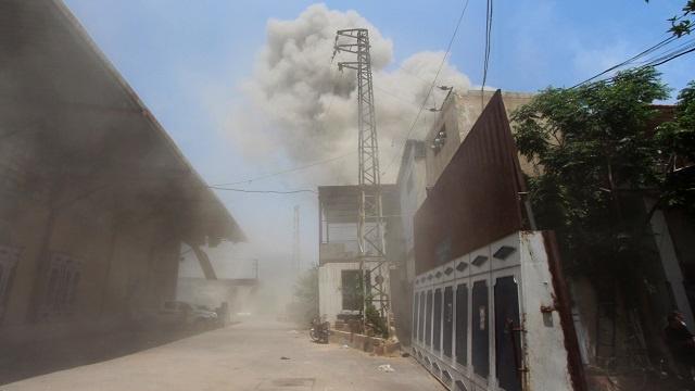 إصابة 7 أشخاص في سقوط قذيفة هاون على مستشفى بريف دمشق