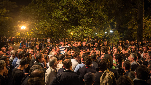 رئيس أبخازيا يصف الاحتجاجات في بلاده بمحاولة الانقلاب
