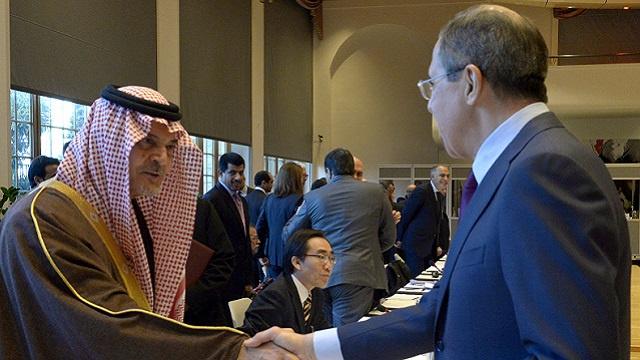 لافروف والفيصل يبحثان التسوية في سورية وغيرها من القضايا الإقليمية والدولية