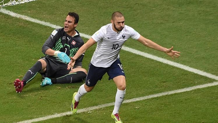فرنسا تكتسح سويسرا وتضع قدما فيدور الـ 16 لكأس العالم