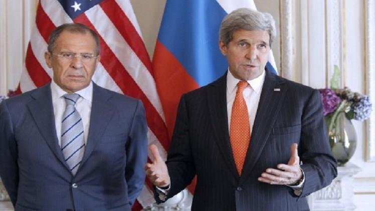 لافروف يبحث مع كيري الوضع في أوكرانيا والعراق وسورية