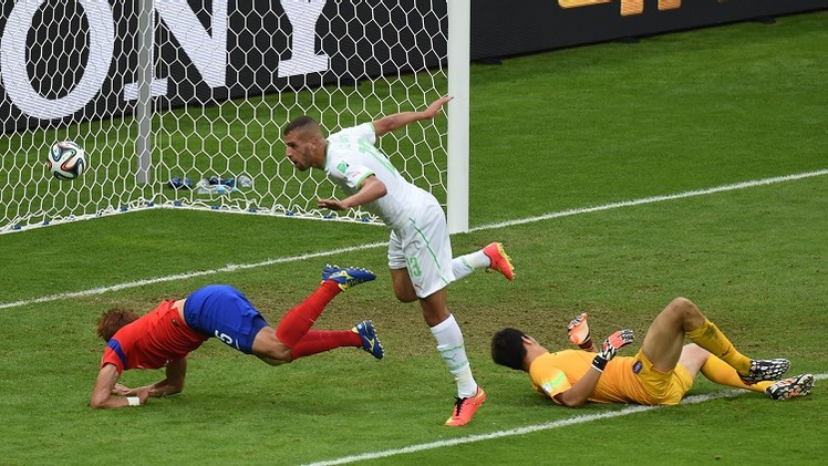 الجزائر تكتسح كوريا الجنوبية وتنعش آمالها في مونديال 2014