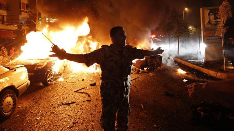مقتل ضابط أمن وإصابة 19 شخصا بجروح في هجوم انتحاري بالضاحية الجنوبية لبيروت