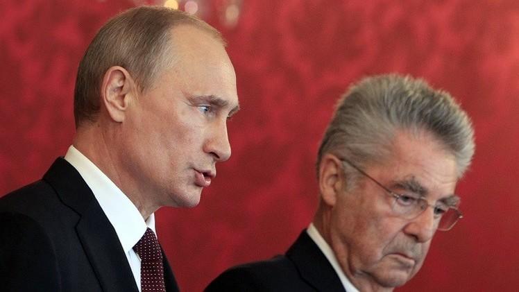 الرئيسان الروسي والنمساوي يعولان على تقارب مواقف بلديهما حول الشأن الأوكراني