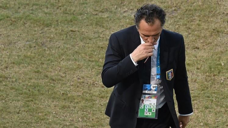 المدرب الإيطالي يقدم استقالته بعد الخروج من مونديال البرازيل