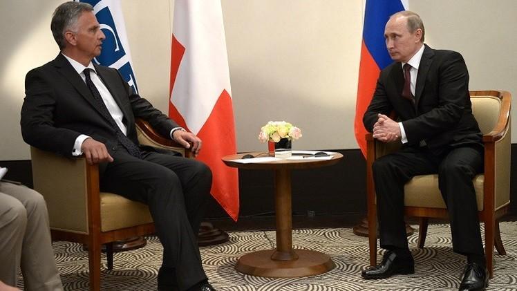 بوتين و بوركهالتر يبحثان أولى خطوات تسوية الوضع في أوكرانيا