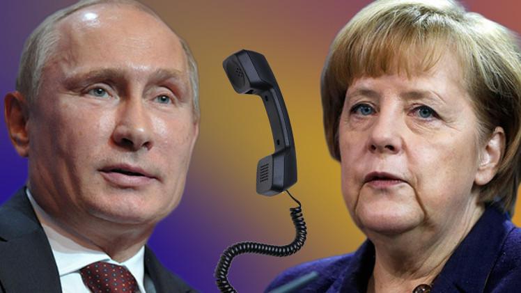 بوتين وميركل يبحثان الإشراف على مراعاة نظام وقف إطلاق النار في أوكرانيا وضرورة تمديد الهدنة