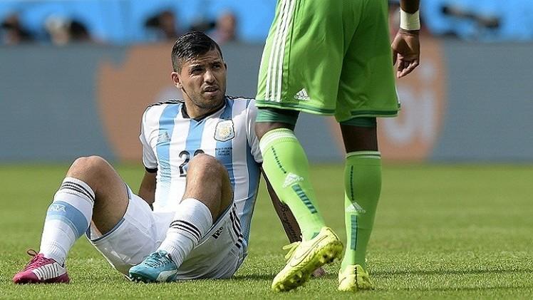 أغويرو قد يغيب عن منتخب التانغو في باقي مباريات المونديال