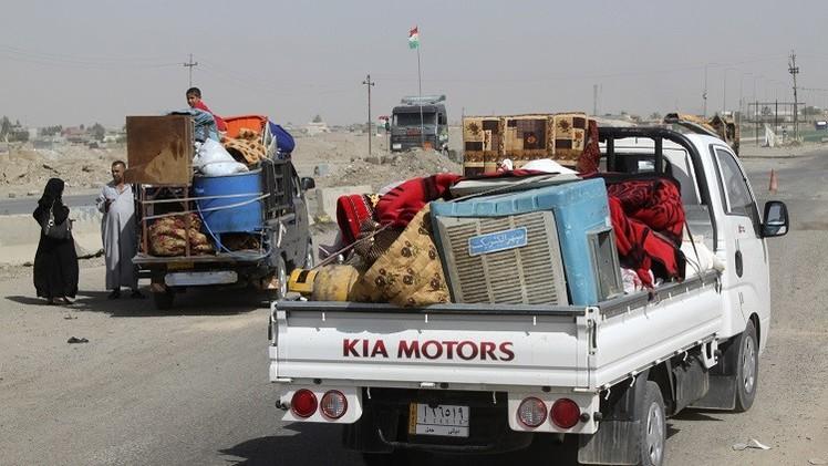 المنظمة الدولية للهجرة تدعو لفتح ممرات للوصول إلى النازحين العراقيين
