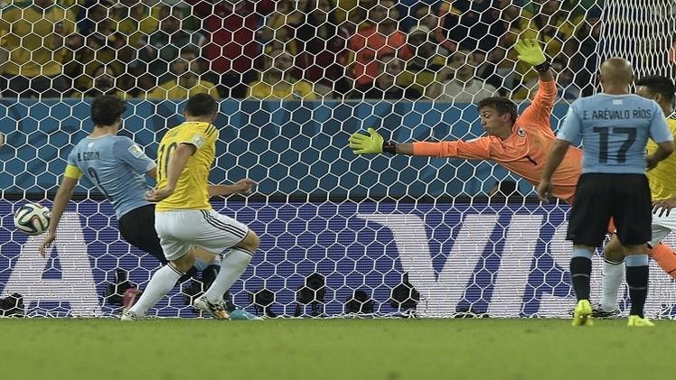 كولومبيا تبدد أحلام أوروغواي وتتأهل إلى ربع نهائي مونديال البرازيل