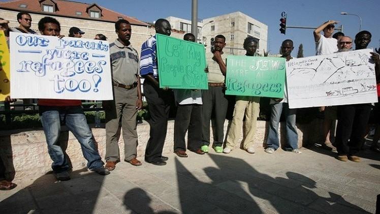 مهاجرون أفارقة يحتجون على الشرطة الإسرائيلية