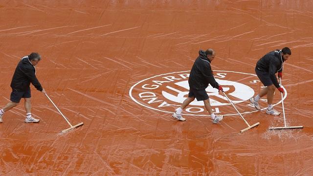 الأمطار تؤجل انطلاق مباريات رولاند غاروس