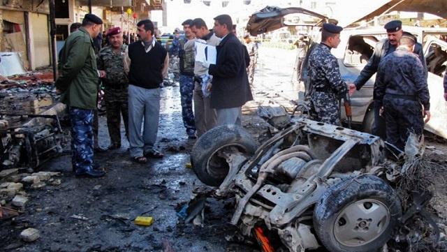 مقتل 14 شخصا على الأقل في انفجار سيارة قرب مستشفى جنوبي بغداد
