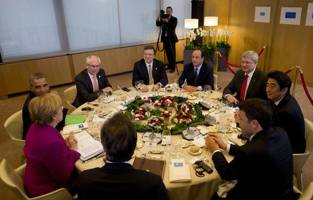 G7 تدعو كييف لتبني نهج متوازن في عمليتها بشرق أوكرانيا وتدعو موسكو للتعاون في حل الأزمة