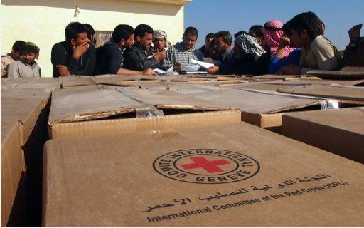 الصليب الأحمر الدولي يسلم شحنة مساعدات طبية الى الفلوجة
