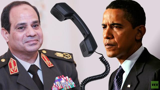 أوباما يتّصل بالسيسي مهنئا