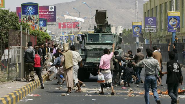 تظاهرة في صنعاء احتجاجا على انقطاع الكهرباء ونقص الوقود
