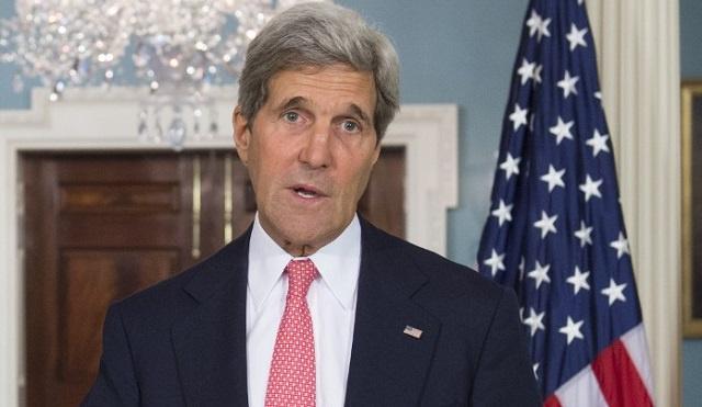 كيري لا يستبعد التعاون مع ايران بشأن العراق واستخدام طائرات بدون طيار لضرب