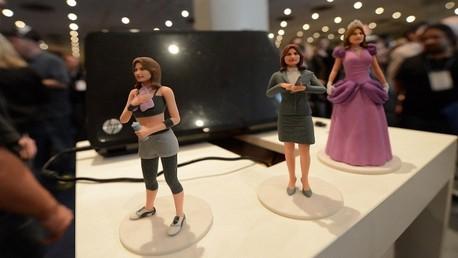 مجسمات بشرية مطبوعة بتقنية 3 دي