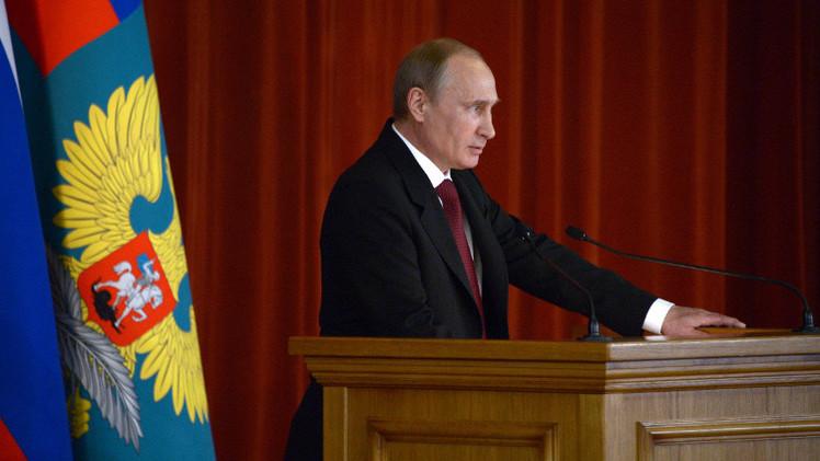 بوتين: لم يكن بوسعنا ترك سكان القرم في وجه المتعصبين الأوكرانيين