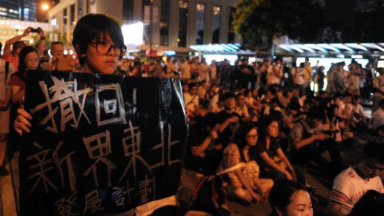 احتجاز أكثر من 500 شخص بعد مظاهرة كبرى في هونغ كونغ للمطالبة بالديمقراطية