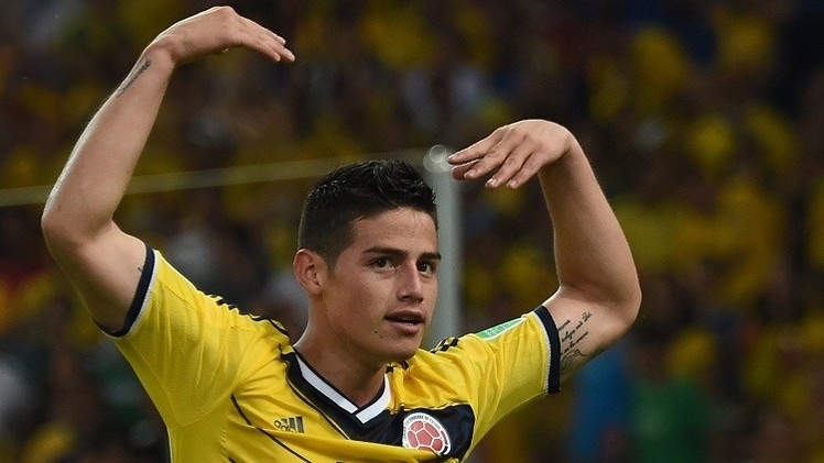 الكولومبي جيمس رودريغيز يتصدر قائمة هدافي مونديال البرازيل