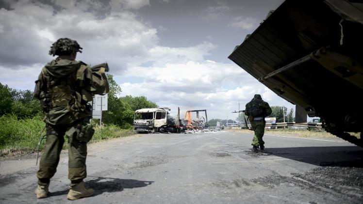 إطلاق قذائف من أوكرانيا على الأراضي الروسية