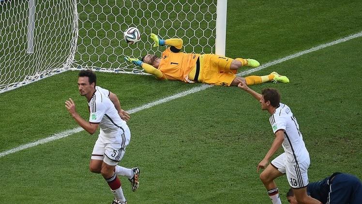 الماكينات الألمانية تعبر إلى المربع الذهبي لمونديال 2014 على حساب الديوك الفرنسية